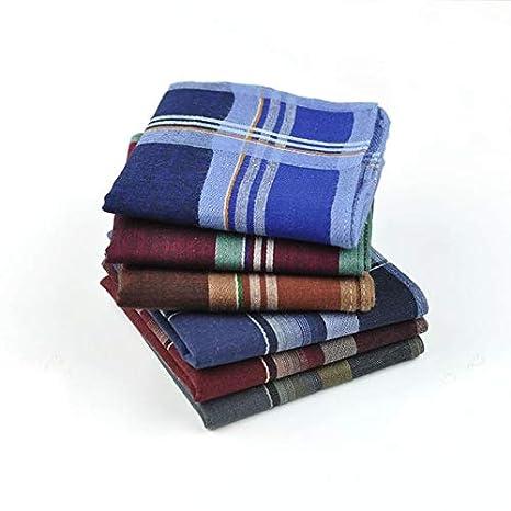 Men/'s 100/% Pure Cotton Handkerchiefs 38CM X 38CM Birthday Gift Bulk Pattern  4