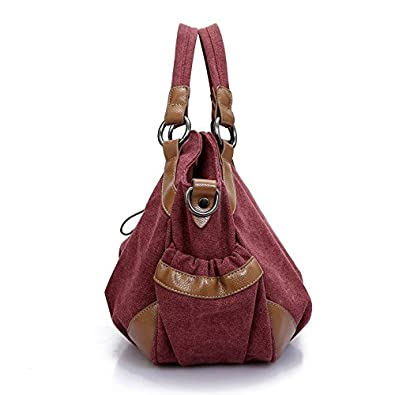 8cbb5fd530b5 Amazon.com: GINSIO Unisex Canvas Simple Shoudle Bag Top-handle Bag ...