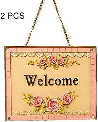 Cartel de bienvenida Romántico 3D Impresión de Rosa Letrero ...