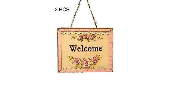 Tarjeta de bienvenida Romántico 3D Rose Print Cartel de madera ...
