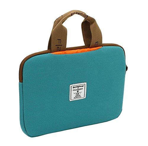 F23, Urban Survival Tablet-Tasche für Tablet-Modelle bis 12 Zoll, BxTxH: 31x3x24 cm, 2 Tragegriffe, Palm, Weiß/Türkis, 30026-7