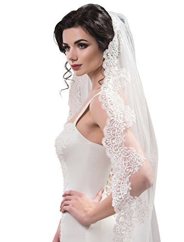 "Bridal Veil Sandy from NYC Bride collection (cathedral 120"", white) by NYC Bride"