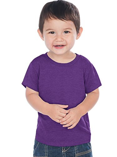 (Kavio! Unisex Infants Crew Neck Short Sleeve Tee (Same IJC0432) Ht. Purple 12M )