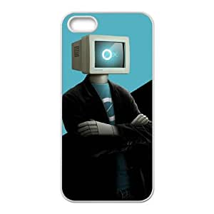 computer man iPhone 4 4s Cell Phone Case White custom made pgy007-9028565