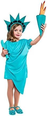 Disfraz de Estatua de la Libertad para niña: Amazon.es: Juguetes y ...