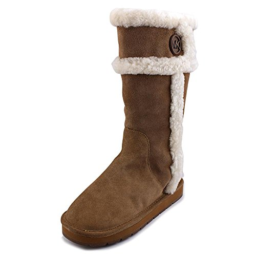 Michael Kors Winter Tall Boot Dark Caramel Suede Winter Boots (8)