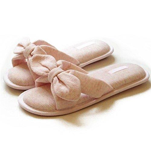 Halluci Womens Cozy Cotton Memory Foam House Slippers w/Non Slip Soles Pink O8KJtVd9uE