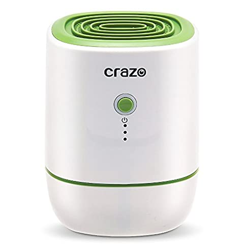 Portable Dehumidifier, CRAZO 500ml Ultra-quiet Mini Room Dehumidifier, Electric Home Dehumidifier, 22w and 220ml/day, Efficient and Stable for small rooms (Dehumidifiers)