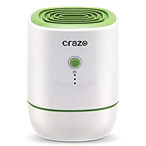 Portable Dehumidifier, CRAZO 500ml Ultra-quiet Mini Room Dehumidifier, Electric Home Dehumidifier, 22w and 220ml/day, Efficient and Stable for small rooms (green)
