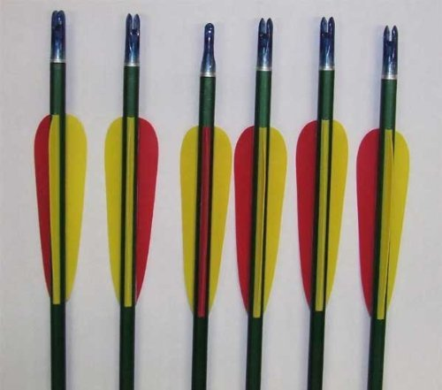 Hobby + Sports 30 Arrows 30'' Inch Made Of Durable Aluminum Screwed Metal Tip