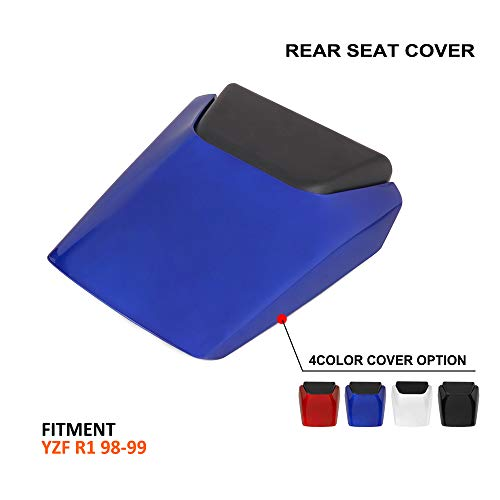 AnXin Motorcycle Blue Rear Seat Cowl Passenger Pillion Fairing Tail Cover For Yamaha R1 1998-1999 Blue Rear Seat Cowl