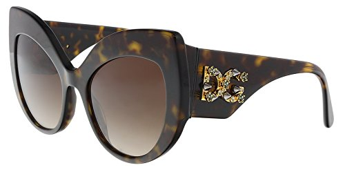 Dolce & Gabbana D&G DG4321 DG/4321 B502/13 Havana Cat Eye Sunglasses ()