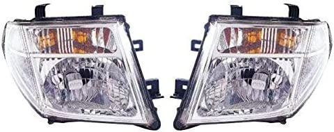 aftermarket Navara D40 2005-2010 Chrome Front Headlight Headlamp Pair Left /& Right