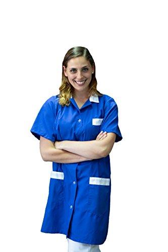 sanitario Da e e Blu davantini tessile estetiste astorino dentisti casacche Lavoro infermieri ristoranti e per Donna dottori giacche Abbigliamento completi e Donna grembiuli parrucchieri Camice Uomo bar RSO8R