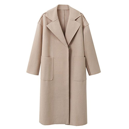 Overcoat Lapel Collar Long Womens Down HARRYSTORE B Beige Winter Turn Coat Cardigan Jacket Outwear Parka Overcoat Ladies 0qwIfFz