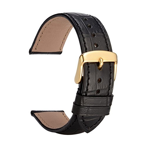 WOCCI-Leather-Watch-Band-Alligator-Embossed-Wristwatch-Strap-with-Gold-Pins-Buckle-and-Remove-Tools