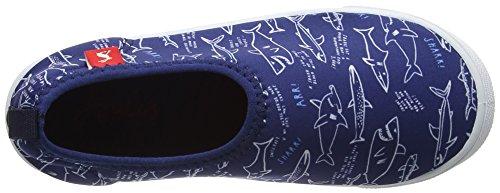 Tom Joule Jungen Jnr Boys Pebble Dusch-& Badeschuhe Blue (Navy Shark Facts)