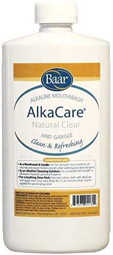 (AlkaCare Natural Clear Mouthwash and Gargle, 16OZ.)