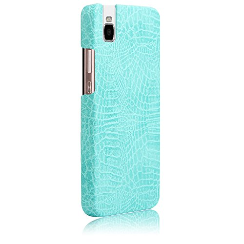 YHUISEN Huawei Honor 7i caso, patrón de piel de cocodrilo clásico de lujo [ultra delgado] cuero de la PU Anti-rasca la PC cubierta protectora de la caja dura para Huawei Honor 7i / Shot X ( Color : Li Light Green