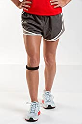 Cho-Pat Original Knee Strap, Black, Medium, 12.5 Inch-14.5 Inch