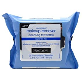 Neutrogena Make-Up Remover Towelettes 25 Count (Fragrance-Free) (3 Pack)