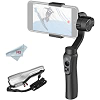 Zhiyun Smooth-Q 3-Axis Gimbal Stabilizer for Smartphone and Gopro Hero 3/4/5, w/ Gopro Adapter, i.e. iphone 7 plus 6 plus, Samsung Galaxy S8 S7 S6