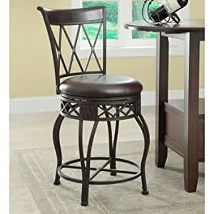 Raleigh 24inch 30inch dark brown bonded leather seat cover swivel barstool Home bar furniture raleigh nc