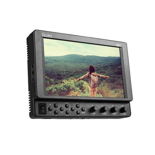Ikan VXF7 7'' 4K Full HD 3G-SDI/HDMI On-Camera LED Monitor with Canon LP-E6 & Sony L-Series Battery Plates, 1920x1200 by Ikan
