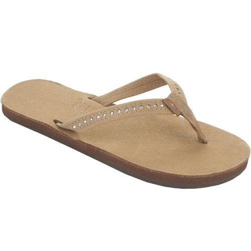 Rainbow Sandals Kid's Crystal Leather Sandals - Sierra Brown