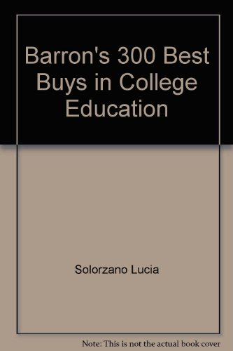 Barron's 300 best buys in college education