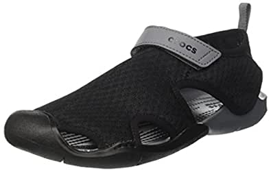 Crocs Women's Swiftwater Mesh Sandal, Black, W5