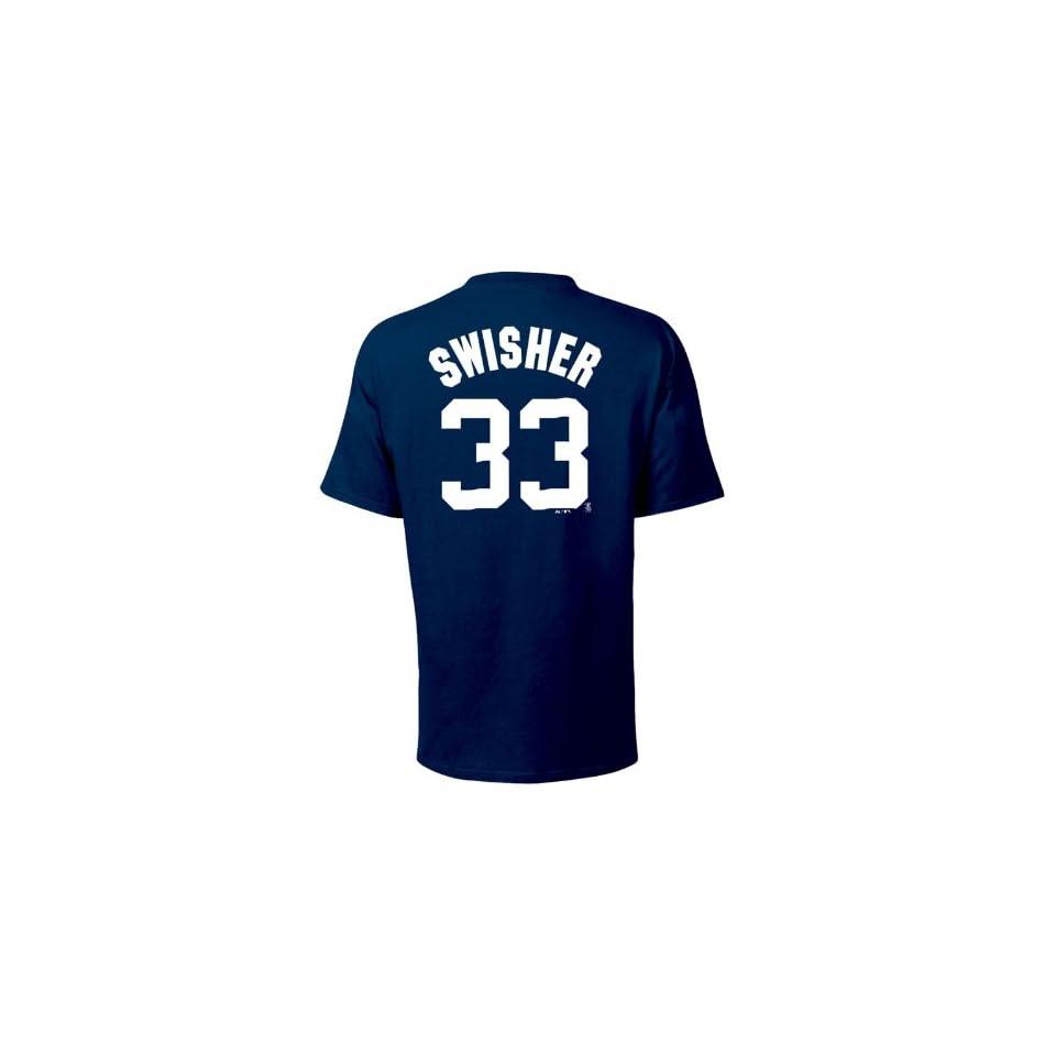 Nick Swisher New York Yankees Name and Number T Shirt, Navy