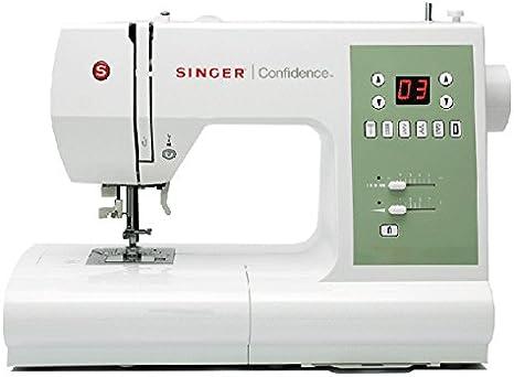 SINGER Confidence 7467 - Máquina de coser (Verde, Blanco, Costura ...