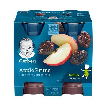 (Gerber 100% Juice Apple Prune, 4-Ounce Bottles (Pack of 24))