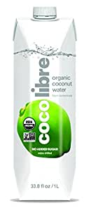 CoCo Libre Organic Coconut Water, 1 Liter (Pack of 12)