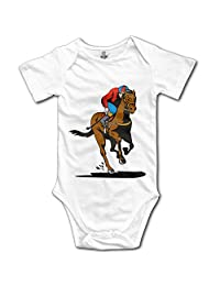 SOURCE POINT Racing Horse Newborn Girl Boy Romper Jumpsuit Bodysuit Baby Outfits Infant Clothes