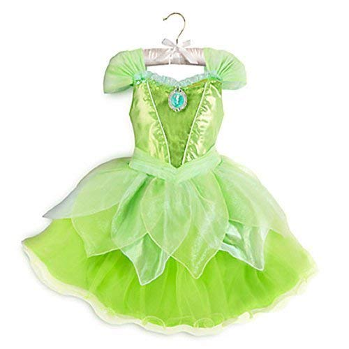 DISNEY STORE TINKER BELL TINKERBELL LIGHT-UP COSTUME DRESS ~ FAIRY ~ 2016 (9/10) -