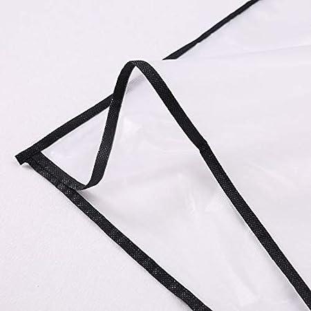 FlYHIGH Trasparente Indumento Sacchetto Vestito Abito Cappotto Abbigliamento Antipolvere PEVA Cover Impermeabile