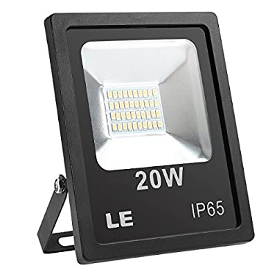 LE 20W Super Bright Outdoor LED Flood Lights, 200W Halogen Bulb Equivalent, Waterproof Security Lights