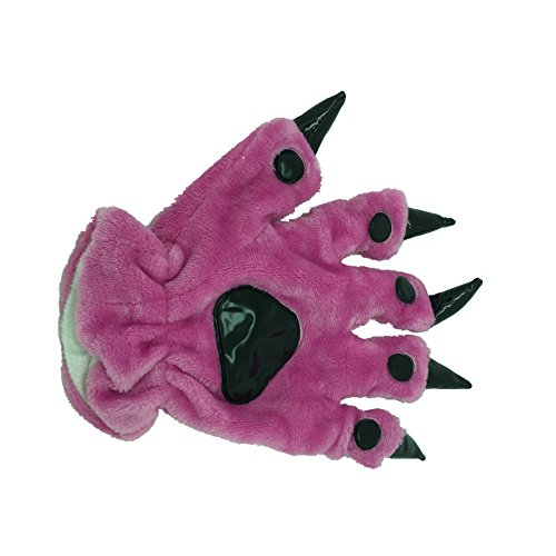 Animal Paw Calw Plush Funny Halloween Costume Hand Gloves Rose S -
