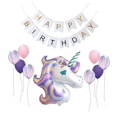Queen Bee - Fiesta Unicornio Decoraciones - Globos Unicornio Decoracion Fiesta Kit Decoraciones Set - Decoraciones para...