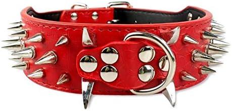 Collar Perro Ajustable Collares para Perros De Cuero con Tachuelas ...