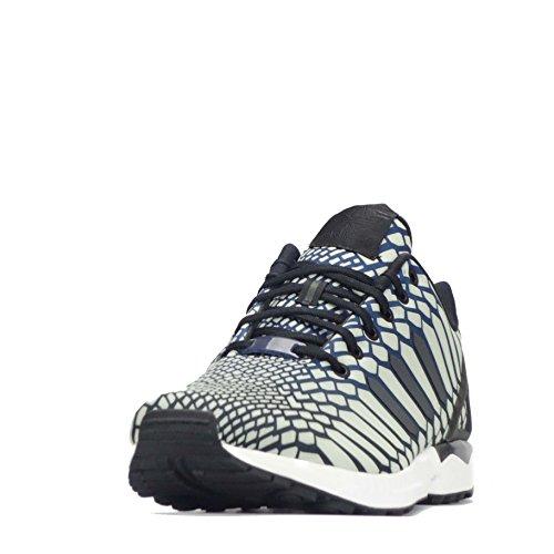 Originaux Adidas Zx Flux Hommes De Xéno Course Despadrilles Chaussures Noir Marine Aq4534 Blanc