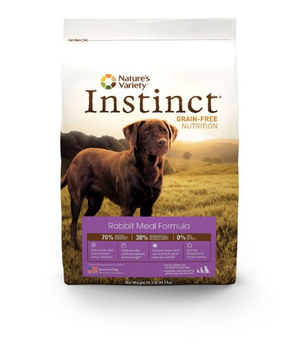 Instinct Grain-Free Rabbit Meal Dry Dog Food by Nature's Variety, 25.3-Pound Package, My Pet Supplies