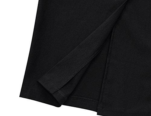 MUXXN Women's Cut Out Neck Knee Length Bridesmaid Junior Dress (M Black) by MUXXN (Image #5)