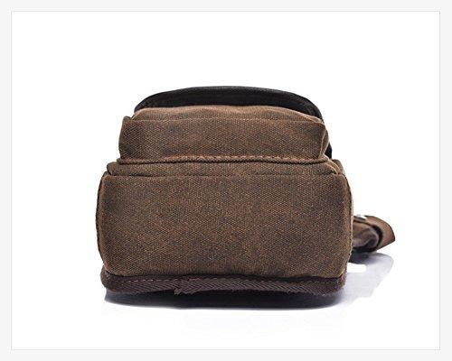 Modelshow Herren Leinwand Multifunktions Beintasche Hüfttasche mit Tasche für Motorrad