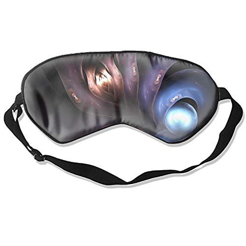 (Sleep Mask Octopus Sealife Underwater Sea Art Fractal Print Adjustable Head Strap Eyeshade Eye Mask)