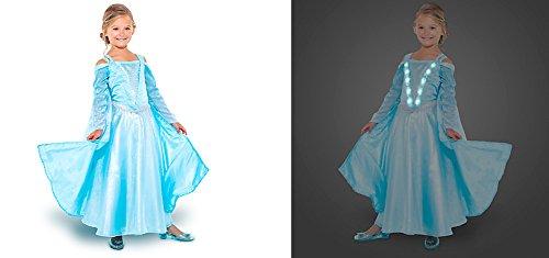 Disney Store Girls Light-Up Frozen Elsa Dress,