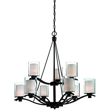 artcraft lighting andover 9light chandelier oil rubbed bronze