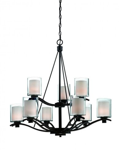 Artcraft Lighting Andover 9-Light Chandelier, Oil Rubbed Bronze